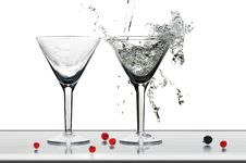 Free Glasses For Martini Royalty Free Stock Images - 4881349