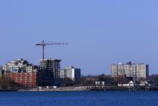 Free High-rise Buildings Along The The Shoreline Stock Images - 4882004