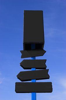 Free Black Signpost Stock Image - 4882061