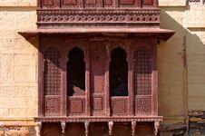 India, Jaisalmer: Indian Palace Architecture Royalty Free Stock Images