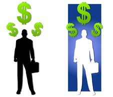Silhouette Businessman Money Royalty Free Stock Photo