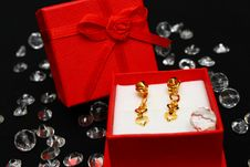 Free Golden Earrings Royalty Free Stock Photos - 4883118