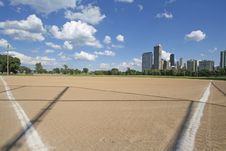 Baseball Field In Chicago Royalty Free Stock Photo