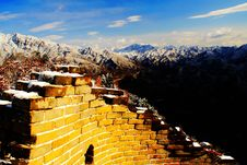 Golden Great Wall Stock Photo