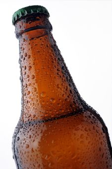Free Beer Bottle With Water Drops Stock Photos - 4883873