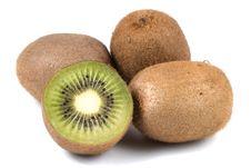 Kiwi Fruits Isolated On White Background Royalty Free Stock Images