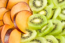 Free Background From Plum And Kiwi. Stock Photo - 4883970