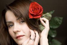 Free Rose Girl Royalty Free Stock Image - 4884286