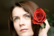 Free Rose Girl Stock Photography - 4884412
