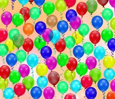 Free Colorful Party Balloons Background Stock Image - 4884771