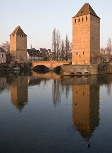 Free Two Towers Of Strasbourg Stock Images - 4884944
