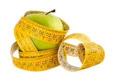 Free Dieting Apple 1 Royalty Free Stock Images - 4885129