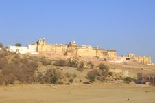 Free India, Jaipur; The Outer City Wall Royalty Free Stock Photo - 4885565