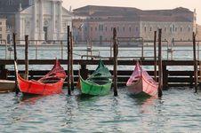Free Coloured Gondole Stock Photography - 4885642
