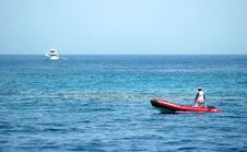 Free Boat On The Sea Royalty Free Stock Image - 4886036