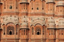 Free India Jaipur Hawa Mahal The Palace Of Winds Stock Photo - 4886330