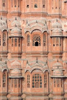 Free India Jaipur Hawa Mahal The Palace Of Winds Royalty Free Stock Photos - 4886348