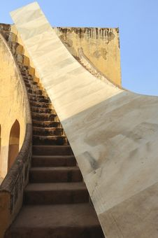 India Jaipur Jaipur Observatory Sundial Stock Image