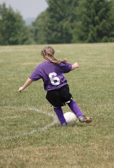 Free Teen Soccer Player In Action 5 Royalty Free Stock Photography - 4887007