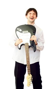 Free Man With Guitar Stock Image - 4888491