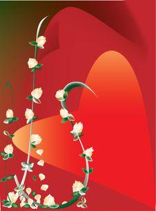 Free Peach Roses Heart Stock Photo - 4889210