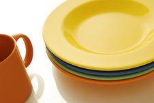 Plate And Mug Stock Images