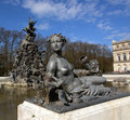 Free Sculptures And A Fountain At Herrenchiemsee . Royalty Free Stock Image - 4899136