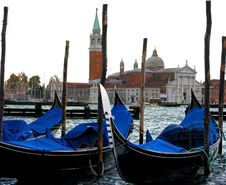 Free Venice Gondolas In The Lagoon Stock Photography - 4890562