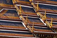 Free Roof Of Wat Phra Kaeo Temple, Bangkok, Thailand. Stock Photography - 4891372