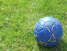 Free Blue Ball On The Field Stock Images - 4891414
