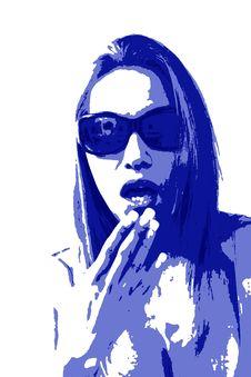 Free Sunglasses Look Stock Image - 4891531