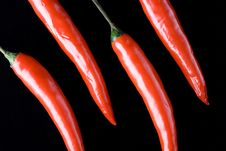 Free Four Red Chili Royalty Free Stock Photo - 4891755