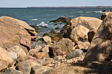 Free A Very Rocky Beach Royalty Free Stock Images - 4891909