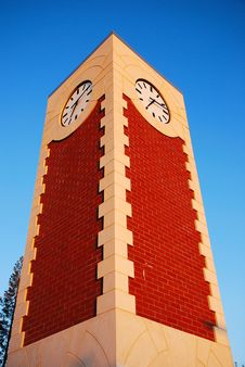 Free Clock Tower On Campus Royalty Free Stock Image - 4892666
