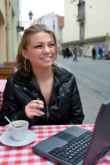 Free The Student In Cafe Street In Old City Stock Photo - 4893270