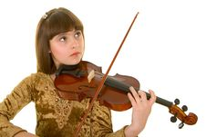Free Girl With Violin Stock Images - 4893334