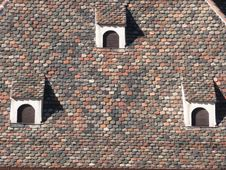 Free Dormer On Roof With Beaver Tail Tiles Royalty Free Stock Photography - 4893487
