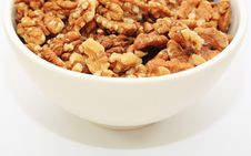 Free Half A Bowl Of Walnuts Royalty Free Stock Photo - 4893975