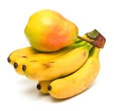 Free Pear And Bananas Royalty Free Stock Photography - 4894297