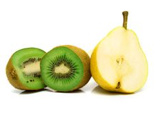 Free Pear And Kiwi Royalty Free Stock Photography - 4894337