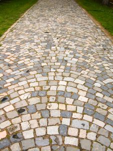 Paved Road To Monastery Royalty Free Stock Photo