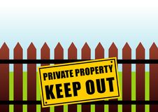 Free Private Property Sign Stock Photography - 4894772