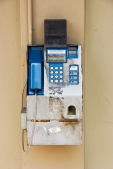 Old Pay Phone Stock Images