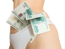 Money And Woman Stock Photos