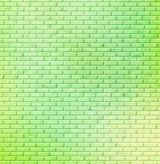 Free Green Brick Wall Royalty Free Stock Photography - 4895837
