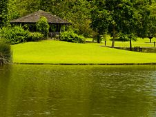 Free Gazebo By The Lake Stock Images - 4896444