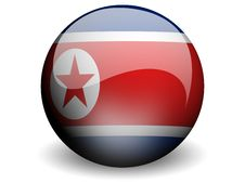 Free Round Flag Of North Korea Royalty Free Stock Photography - 4896517