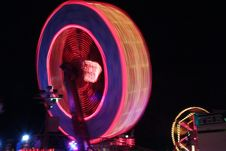Free Fair Ground Ride At Night Stock Image - 4896591