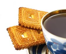 Free Cup Of Tea And Two Cookies Stock Photography - 4897052