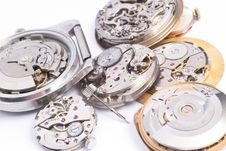 Free Bunch Of Watch Mechanisms On White Background Royalty Free Stock Photos - 4897278